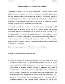 dissertation juridique avortement