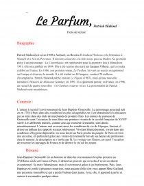 dissertation sur le parfum de patrick suskind