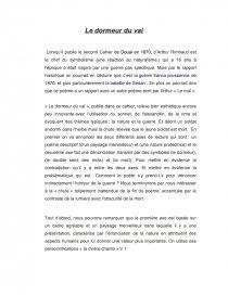 Le Dormeur Du Val Arthur Rimbaud Fiche Valeria10494