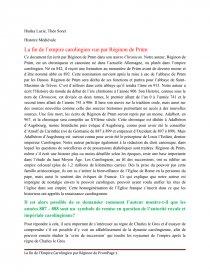 dissertation empire carolingien
