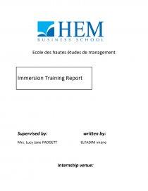Internship report Linguistic Immersion - Dissertation - huuda