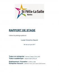 Rapport De Stage Cabinet De Podologie Pédicurie Rapport De