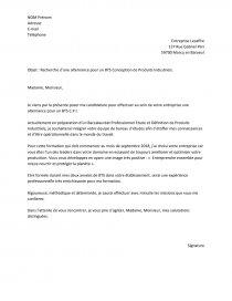 Exemple Lettre De Motivation Bts Cpi Lettre Type Lucie