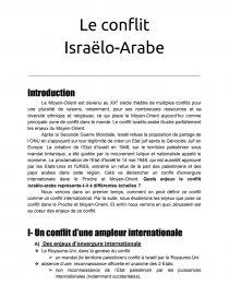 le conflit israelo arabe dissertation