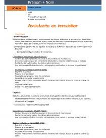 Ultra Modele CV assistante en immobilier - Lettre type - bete34280 KD-93