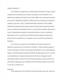Analyse De Situation Infirmiere Rapport De Stage Anais Venet