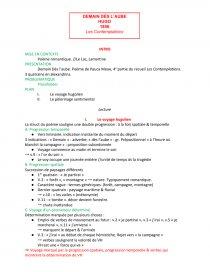 Lecture Analytique Demain Dès Laube Victor Hugo Fiche