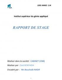 Rapport De Stage Cabinet Comptable Rapport De Stage Zaid1