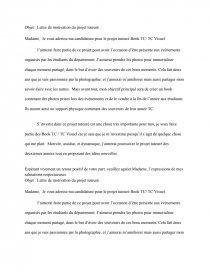 Objet Lettre De Motivation Du Projet Tuteuré Cours Carron