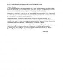 Lettre De Motivation Pour L Inscription En Bts Banque Conseiller