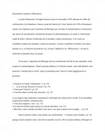 exemple dissertation explicative - rhinocéros