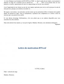 Lettre De Motivation Bts Sp3s Lettre Type Perrine1995