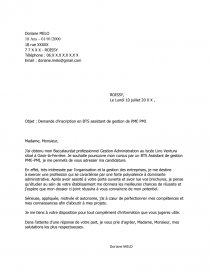 Lettre De Motivation Bts Alternance Assistante De Gestion Pme Pmi