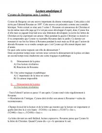 dissertation cyrano bergerac drame romantique