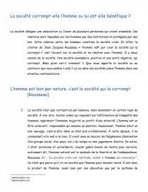 La Societe Corrompt Elle L Homme Ou Lui Est T Benefique Dissertation Mariejo23 Naturellement Bon