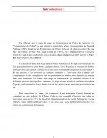 Rapport De Stage Dans Un Commissariat De Police Rapport De