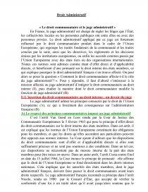 dissertation le juge administratif et les directives communautaires