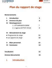 Rapport Attijari Wafa Bank Rapport De Stage Maroua El
