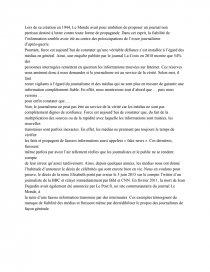 Sujet Le Journalisme Est Il Au Service De La Verite Dissertation Smayraaa Qu Ce Que